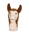 Lama handpop knuffel 28 cm