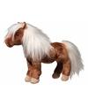 Luxe shetland pony knuffel bruin 23 cm