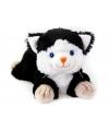 Magnetron warmte knuffel zwarte kat 18 cm