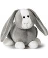 Nici pluche konijn grijs 16 cm
