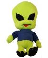 Pluche alien knuffel met blauwe trui 40 cm