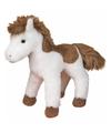 Pluche american paint paard wit bruin 20 cm
