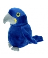 Pluche ara knuffel blauw 16 cm
