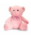 Pluche baby girl beer knuffel roze 25 cm