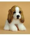 Pluche basset hond knuffel 13 cm