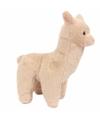 Pluche beige alpaca lama knuffel 17 cm