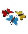 Pluche blauwe vlinder 21 cm