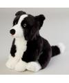Pluche border collie hond knuffel 28 cm