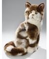 Pluche bruin bonte katten knuffel 34 cm