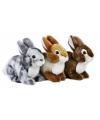 Pluche bruin konijn knuffel 22 cm
