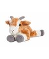 Pluche bruin witte geiten knuffel 20 cm