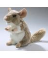 Pluche bruine chinchilla knuffel 18 cm
