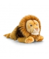 Pluche bruine liggende knuffel leeuw 46cm