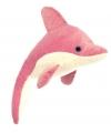 Pluche dolfijn knuffel roze wit 23 cm
