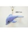 Pluche dolfijn sleutelhanger 11 cm