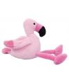 Pluche flamingo knuffel roze 14 cm
