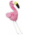 Pluche flamingo knuffeltje 10 cm