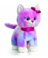 Pluche gekleurde kitten kat staand 25cm
