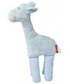 Pluche giraffe knuffel blauw 19 cm