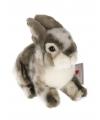 Pluche grijs konijn knuffel 22 cm