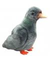 Pluche grijze duif 23 cm