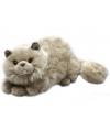 Pluche grijze perzische katten knuffel 30 cm