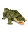 Pluche groene liggende alligator krokodil knuffel 66cm