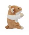 Pluche hamsters knuffel 13 cm beige