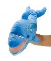 Pluche handpop dolfijn 45 75 cm