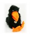Pluche handpop zwarte raaf 40 cm