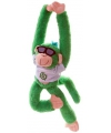 Pluche hangaapje knuffel groen 40 cm