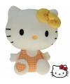 Pluche hello kitty knuffel geel 25 cm