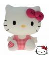 Pluche hello kitty knuffel roze 25 cm