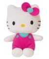 Pluche hello kitty roze 12 cm