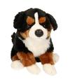 Pluche honden knuffel zittende berner senner 30 cm
