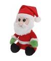 Pluche kerstman knuffel 26 cm