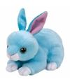 Pluche knuffel blauw konijn haas ty beanie jumper 33 cm