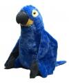 Pluche knuffel blauwe papegaai 76 cm