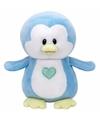 Pluche knuffel blauwe pinguin ty beanie baby twinkles 24 cm