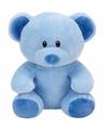 Pluche knuffel blauwe teddybeer ty beanie baby lullaby 24 cm