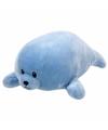 Pluche knuffel blauwe zeehond ty beanie baby doodles 24 cm
