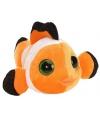Pluche knuffel clowvis oranje 13 cm