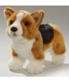 Pluche knuffel corgi hond met bruine rug 21 cm