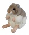 Pluche knuffel hamster 13 cm