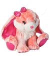 Pluche knuffel konijn roze 30 cm