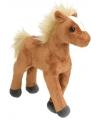 Pluche knuffel paard bruin 20 cm