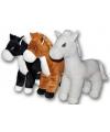 Pluche knuffel paard wit 40 cm