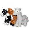 Pluche knuffel paard zwart 40 cm