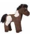 Pluche knuffel paint paard wit donkerbruin 20 cm