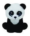 Pluche knuffel panda ty beanie baboo 15 cm